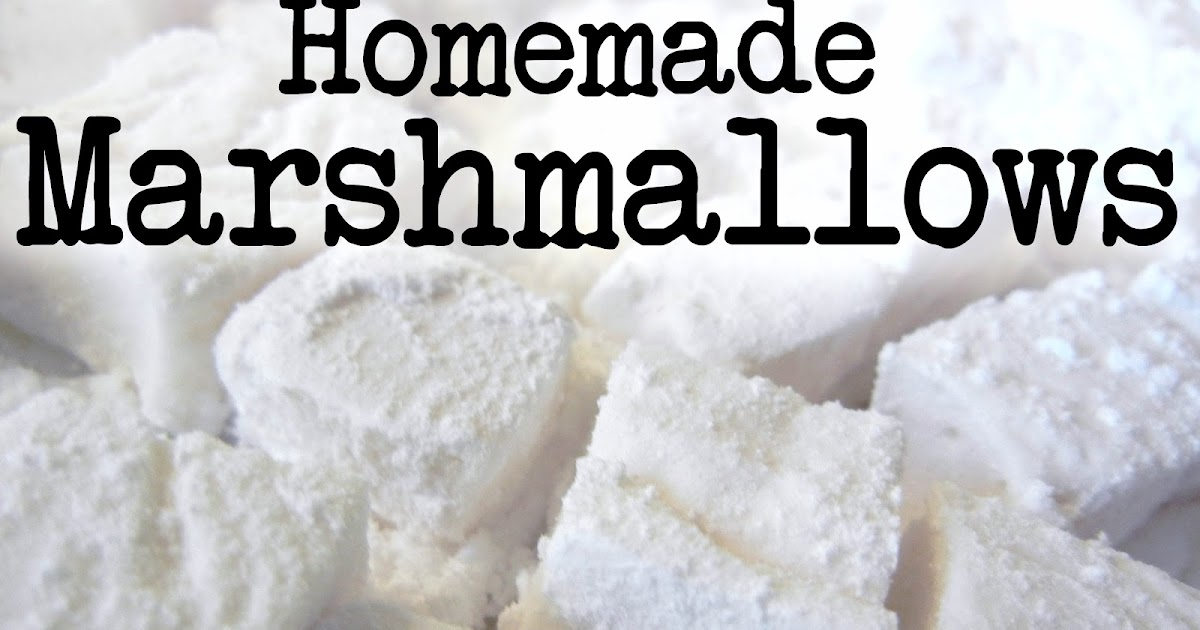 Derek's Kitchen: Homemade marshmallow recipe