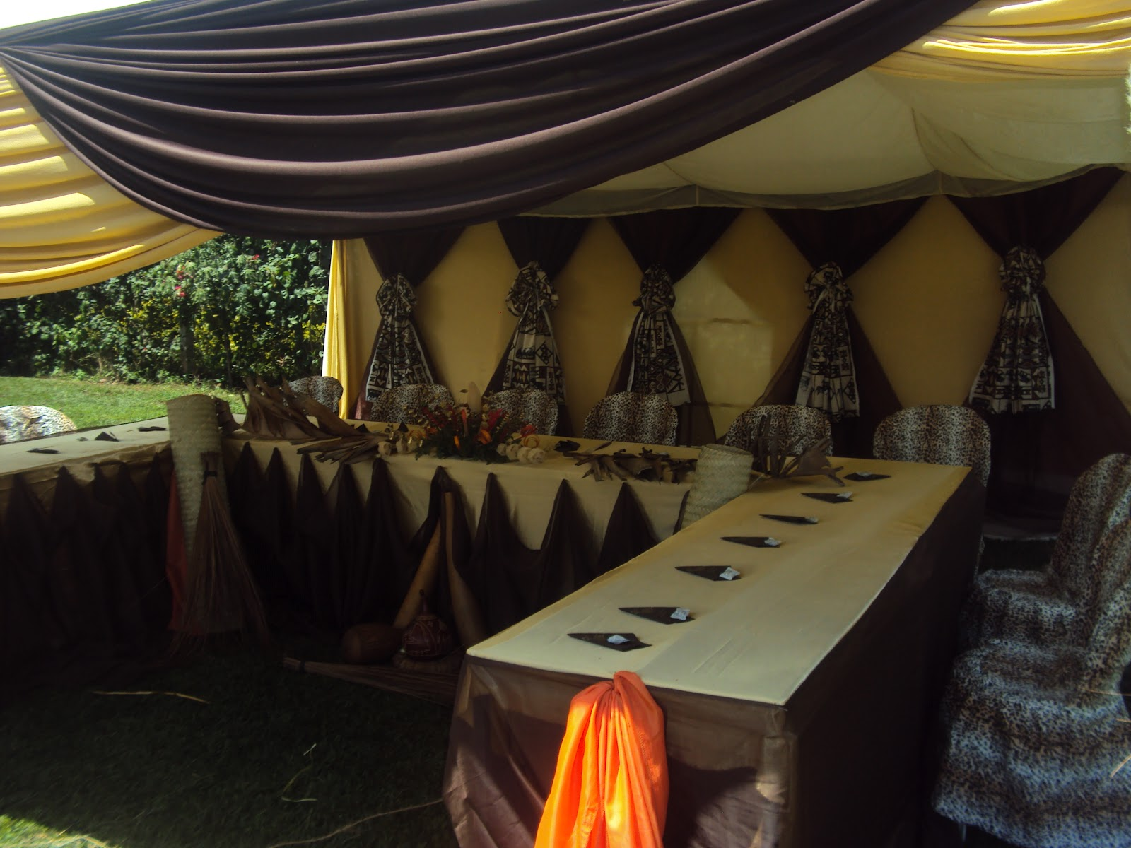 Wazzy thoughts the latest in african themed weddings for African wedding decoration theme