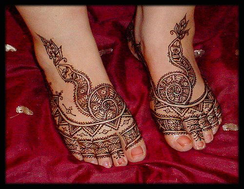 Leg Mehndi Designs Easy Only : Latest easy feet mehndi desings