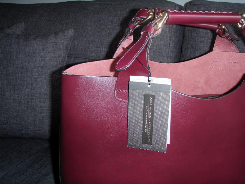 skórzana torebka zara