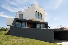 moderna casa fachada geométrica