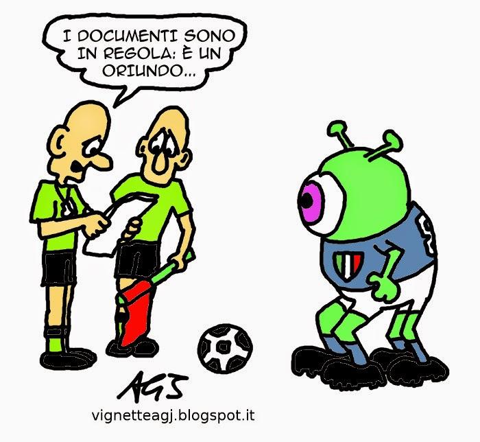 Nazionale di Calcio, Oriundi, Mancini, Conte, umorismo