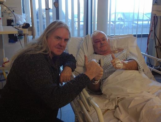 Nigel Glockler - Biff Byford - hospital
