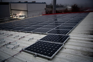PV Modules on Corrugated Iron Rooftop