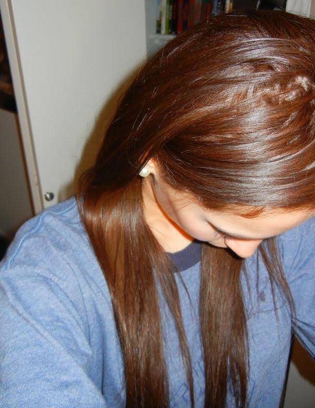 Blonde Hair Frosted Brown | Dark Brown Hairs