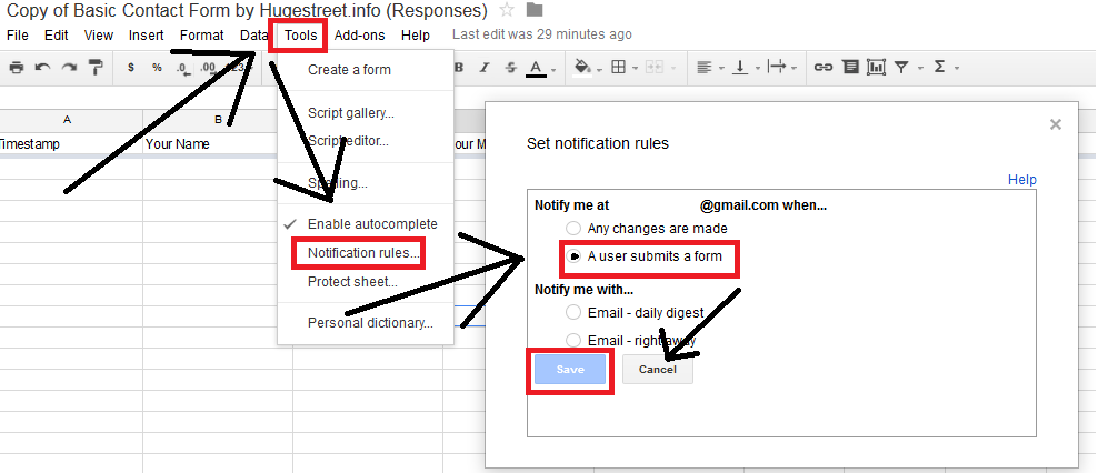 Guide To Create A Contact Form Using Google Docs