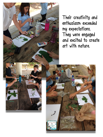 art integration and science students use nature to make art