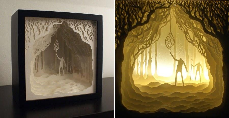 Papercut Light Boxes by Hari & Deepti