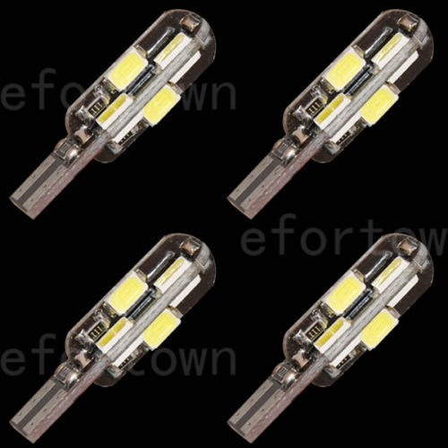 4 x Canbus No Error T10 168 194 2825 W5W 12 LED 5630 SMD Bulb Light White 250LM