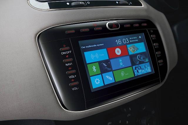 fiat-punto-sportivo-6.5-inch-touch-screen ஃபியட் புன்ட்டோ எவோ ஸ்போர்ட்டிவோ பதிப்பு அறிமுகம்