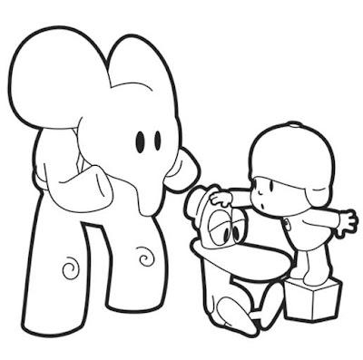 Desenho do Pocoyo para colorir