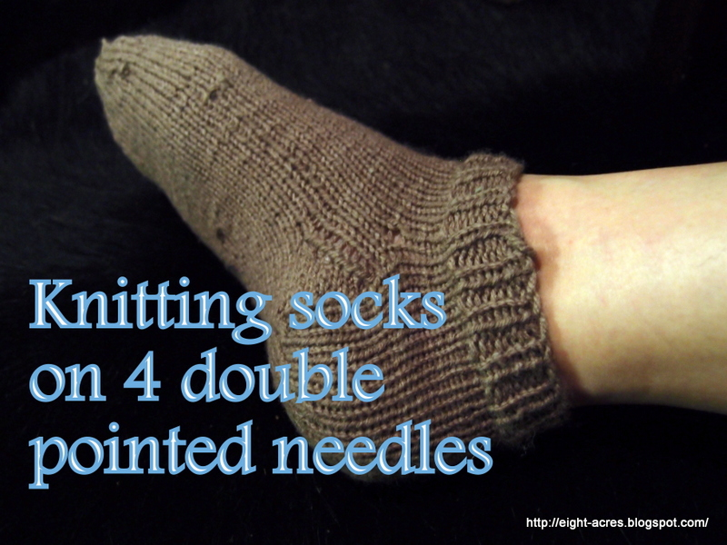 Knitting Patterns For Men s Socks On 4 Needles : Knitting socks on four double-pointed needles