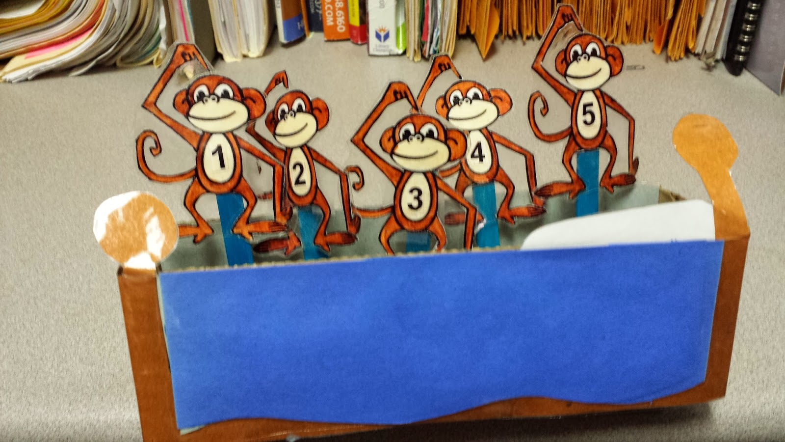 Library JuJu: Five Little Monkeys Pop-Up Puppets