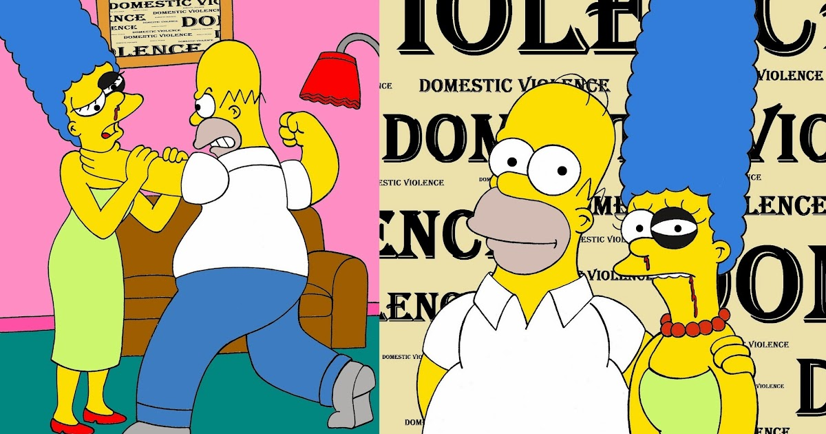 Humor chic humor chic art social marge and homer - Bart simpson nu ...
