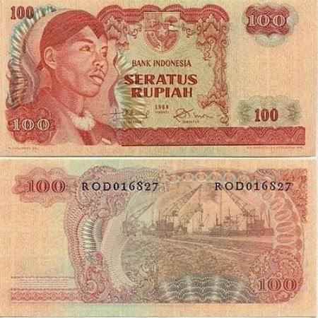 Uang Kertas 100 Rupiah 1968