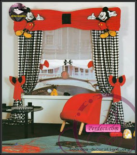 Cortina do Mickey para quarto infantil