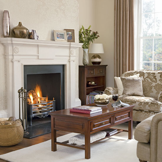 New home interior design creative living room for Cream and brown living room ideas