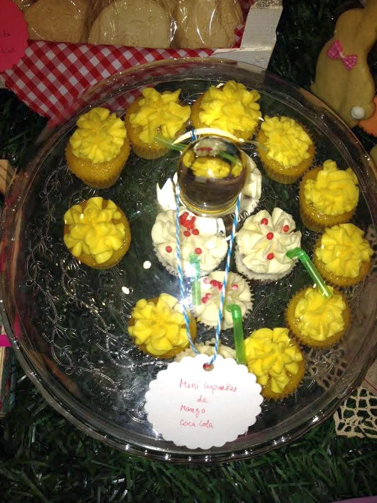 Cupcakes en horneando entre telas