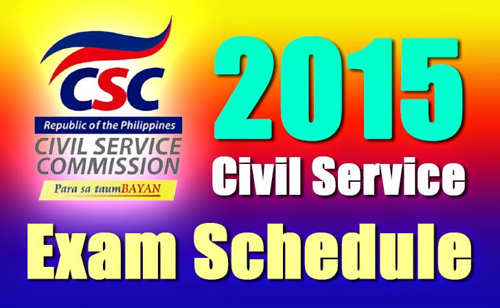 2015 Civil Service Exam Schedule