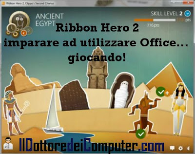 ribbon hero 2 imparare office giocando