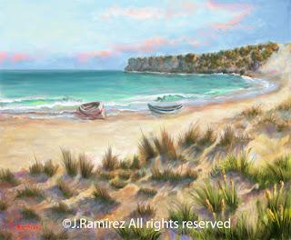 Bolonia Beach landscape