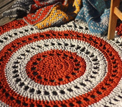 Crochet a Gorgeous Mandala Floor Rug