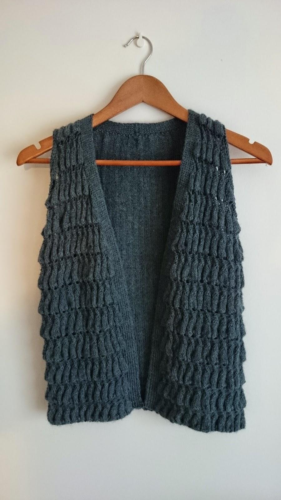 knitting vest isager amimono ravelry