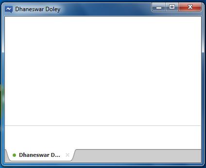 Facebook Messenger chat box