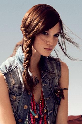 Peinados miles peinado con trenza de lado - Peinados de melenas largas ...