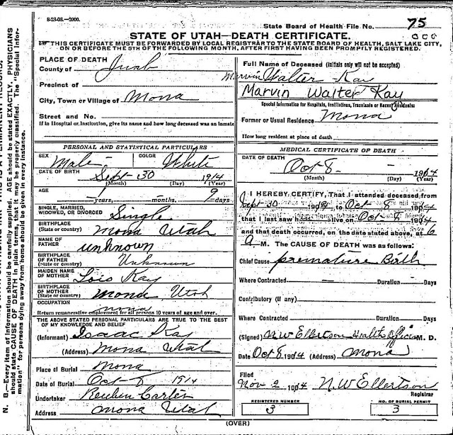 Leslie Nelson Family Tree: Evan and Lois\'s Death Certificates and ...