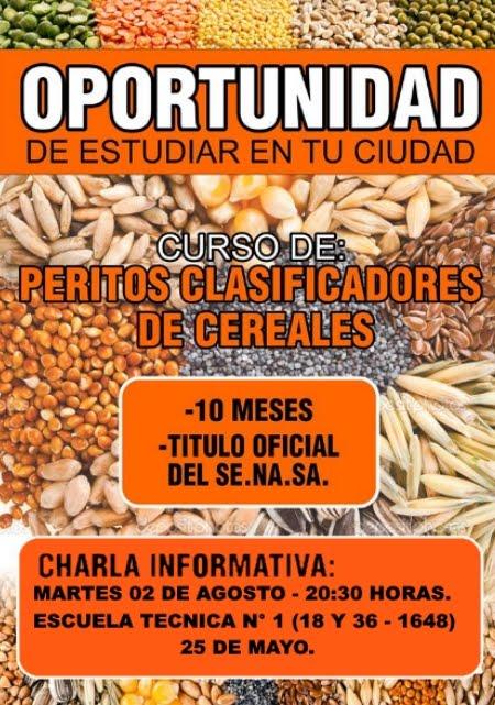 CURSO PERITO CLASIFICADOR DE CEREALES