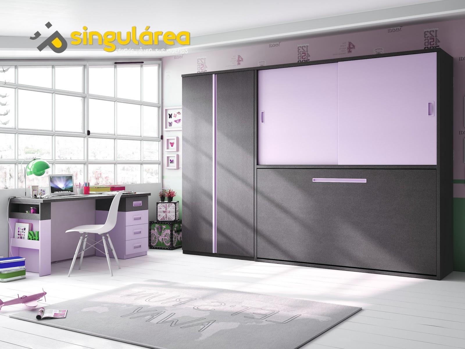 Cama abatible horizontal 861 - Habitaciones juveniles camas abatibles horizontales ...