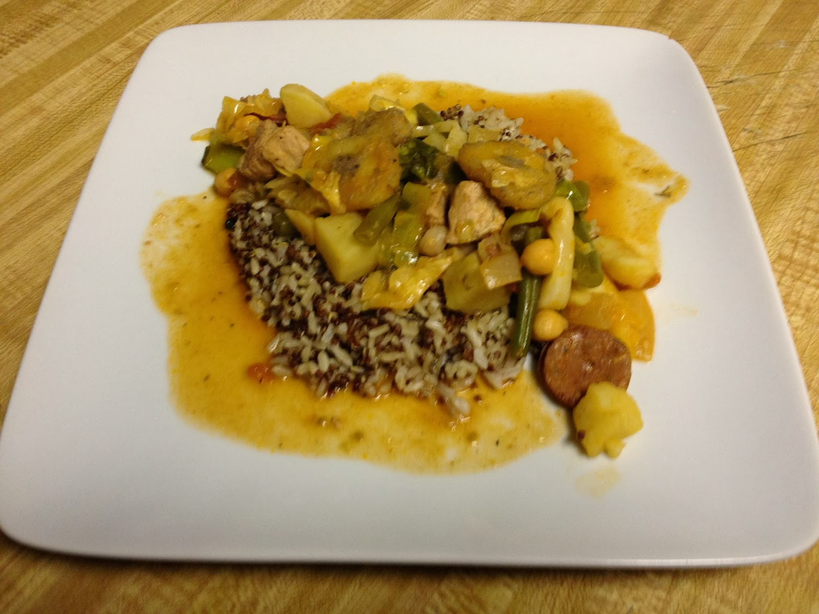 Puchero with elevated presentation