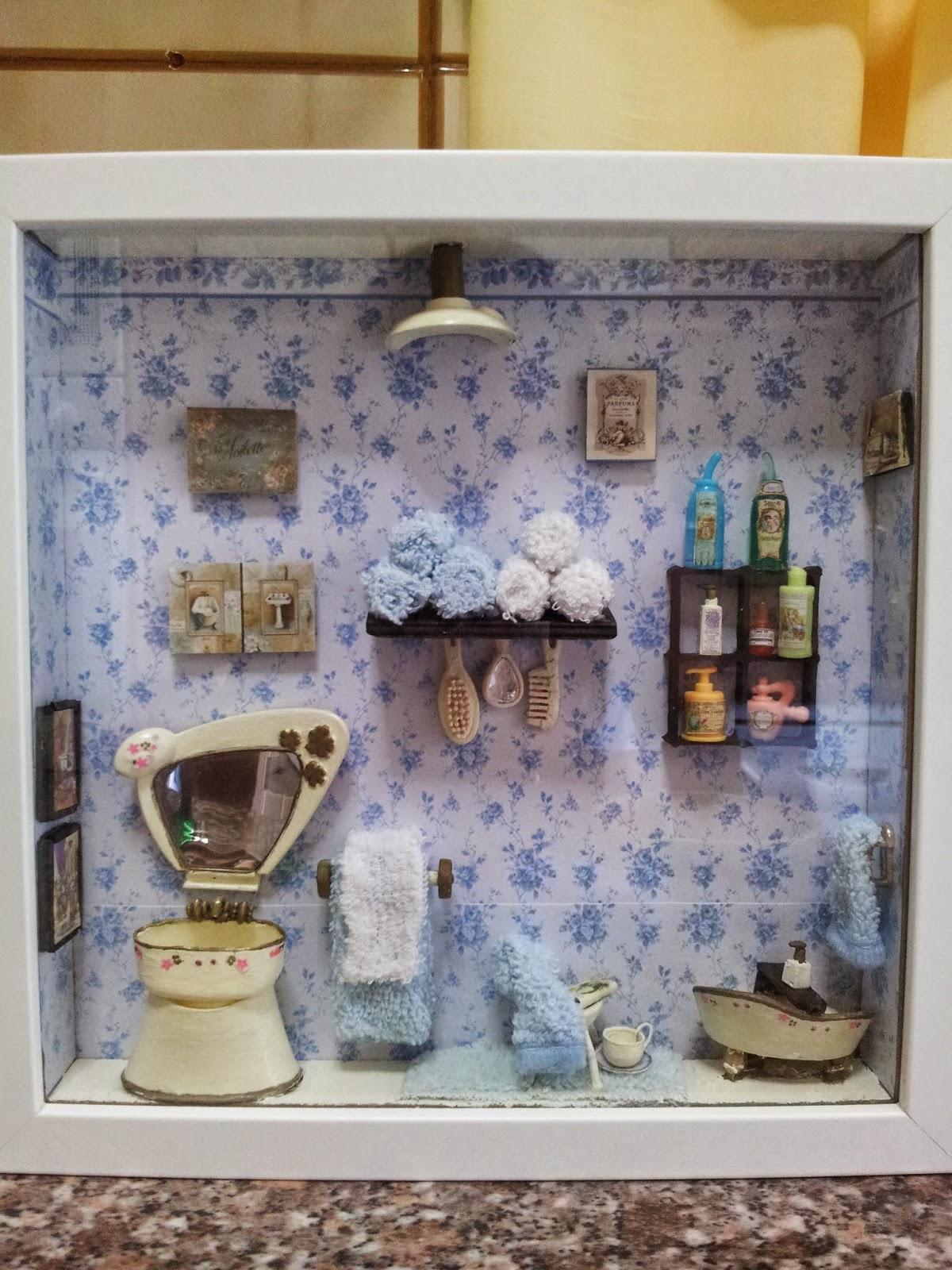 Laminas Baño Vintage:isabelvintage: Cuadros de Estancias Vintage en miniatura