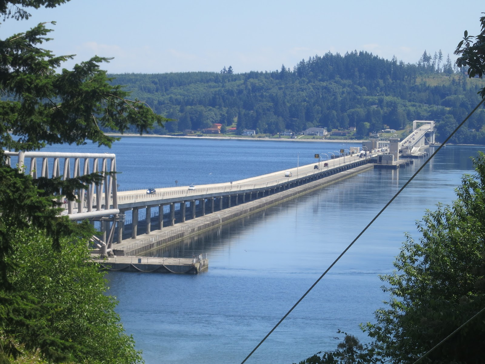 ... picture is from the Kitsap Peninsula or the west end of the bridge