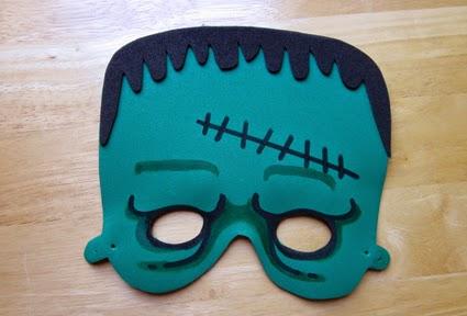Máscara de Frankenstein de goma eva