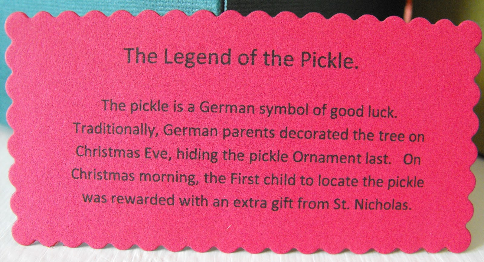 weve had this tradition in our family as long as i can remember this christmas was no exception with the first one to mentionoh - Christmas Pickle Story