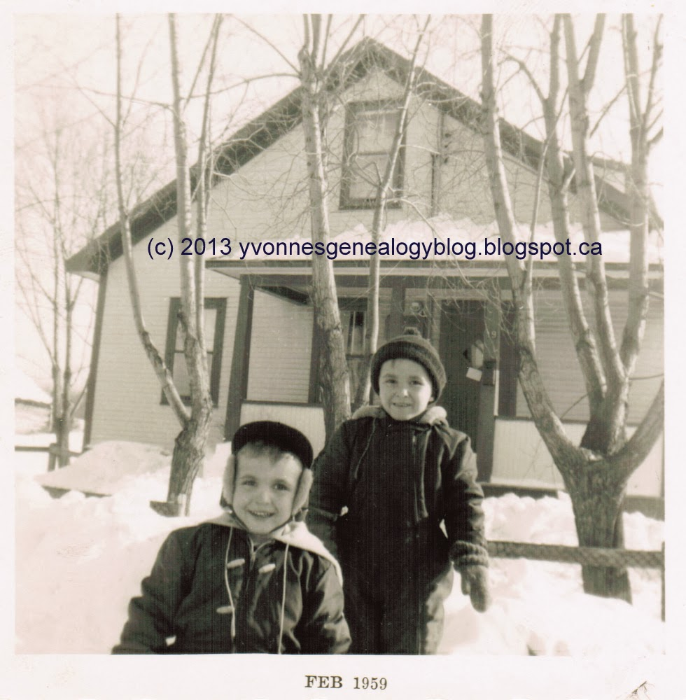 Robert and his brother Raymond in the winter of 1959