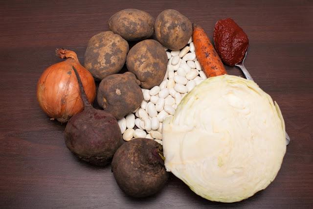 продукты для борща с фасолью