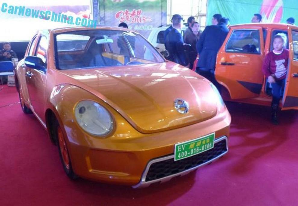 Chinese Brand With Nissan & Volvo-Like Logo Creates Five-Door Beetle-Like EV