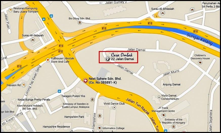 Lokasi Buffet Ramadhan Casa Ombak @ Ombak Creative Kuala lumpur