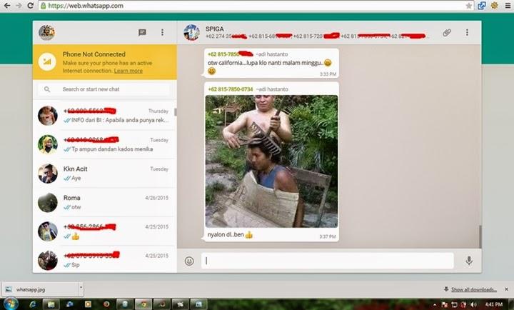Kini Whatsapp Dapat dibukak pada Komputer dan Laptop