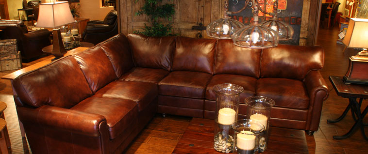 rustic brown leather sectional image for elements carlyle top grain