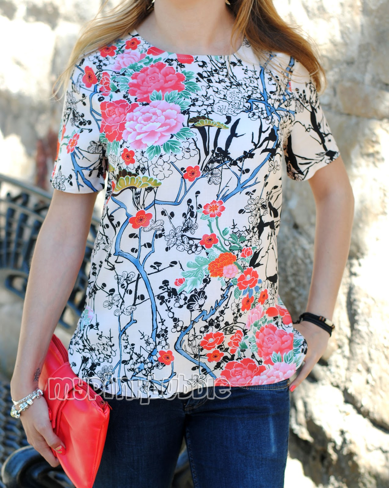 camisa flores japonesas