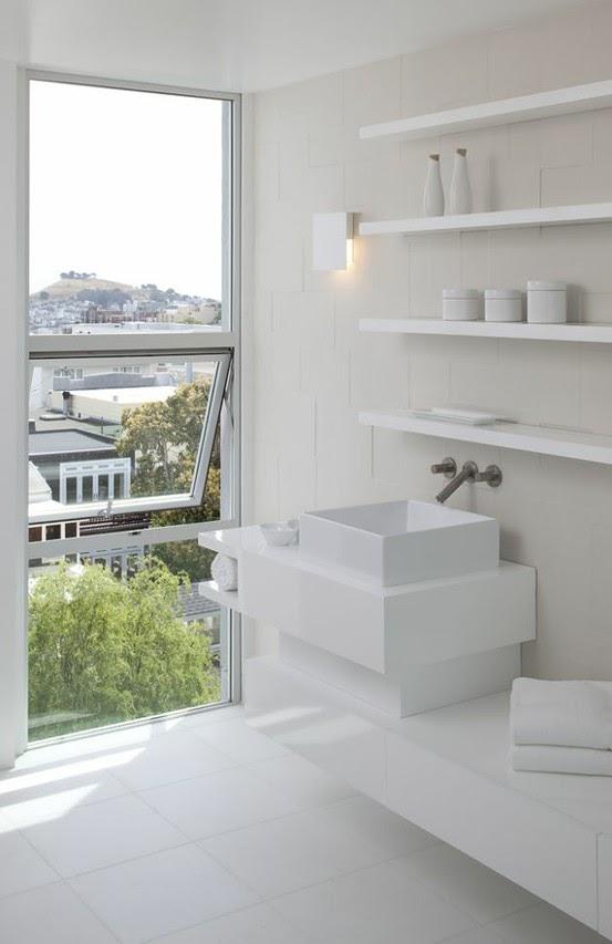 To da loos all white modern minimalist bathrooms for Contemporary white bathroom