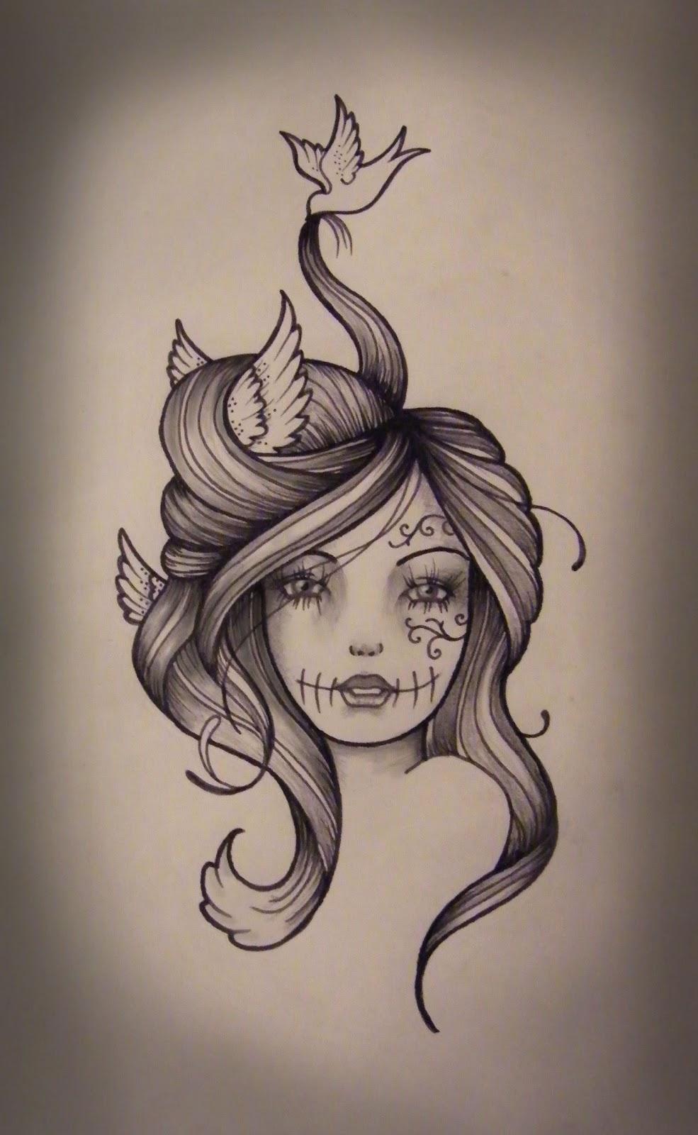 Girl tattoo designs wrist
