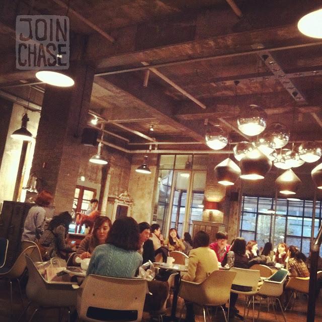 Inside Cafe aA in Hongdae, Seoul, South Korea.