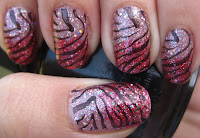 Pink glitter gradient with zebra print