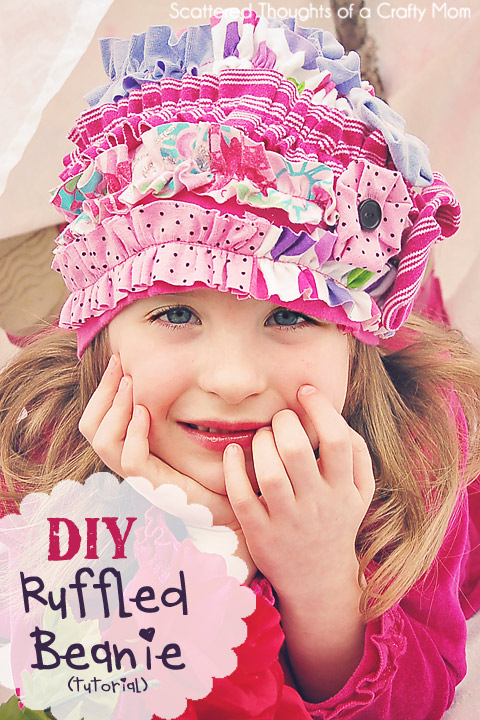 Tutorial on how to make a ruffled beanie hat.