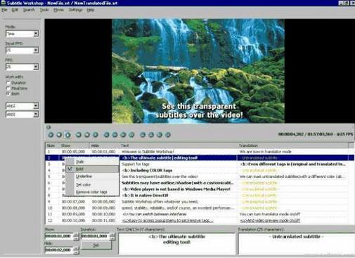 Free Download Software Jubler Subtitle Editor Terbaru